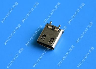 24 Pin Computer Waterproof Micro USB Connector , USB 3.1 SMT DIP Type C Female Connector